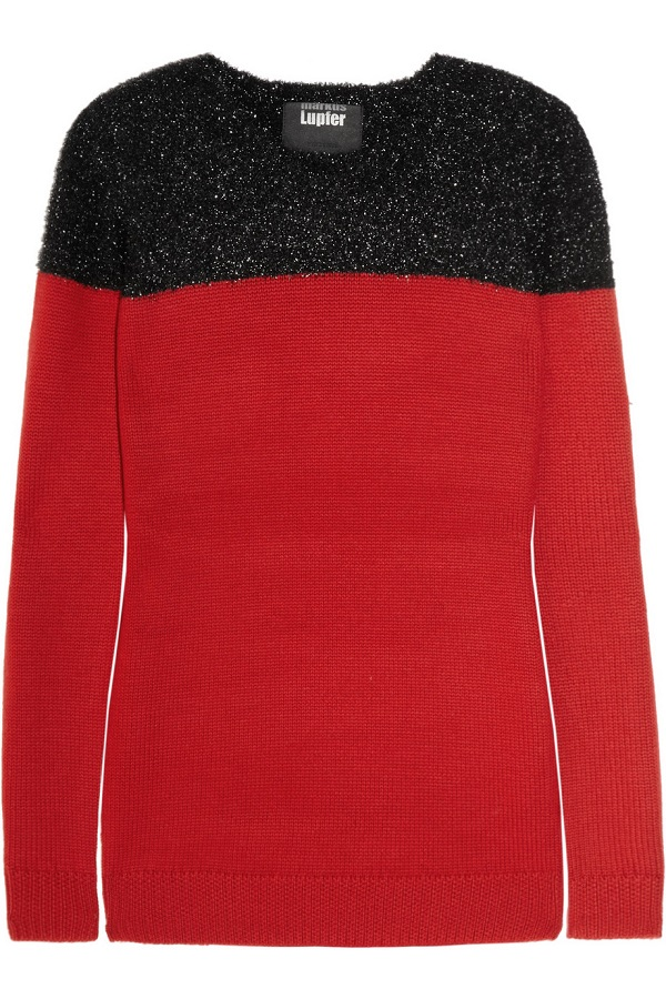 MARKUS  LUPFER   panelled wool sweater - currently 50% off