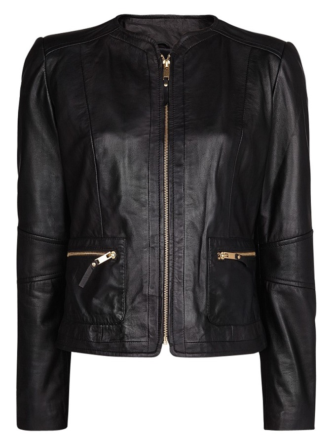 MANGO   zippers leather jacket