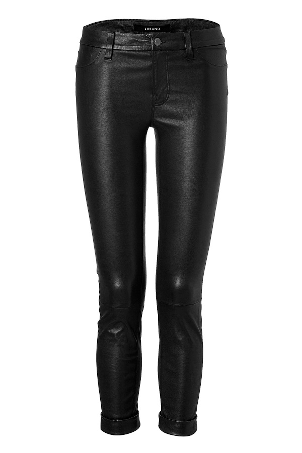 J  BRAND   cropped anja leather trousers