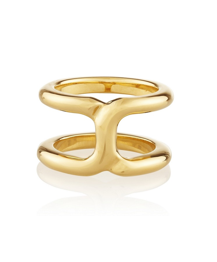 CHLOÉ   marcie gold plated ring