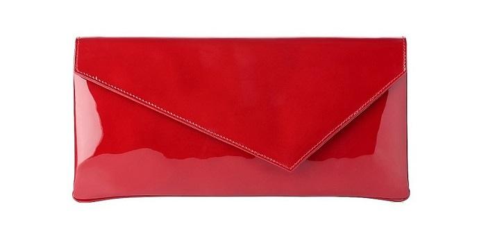 L.K. BENNETT   leonie patent leather clutch bag