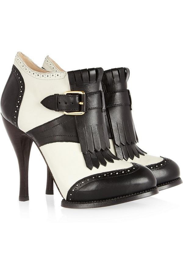 MCQ ALEXANDER MCQUEEN   two tone ankle  boots currently 50% off