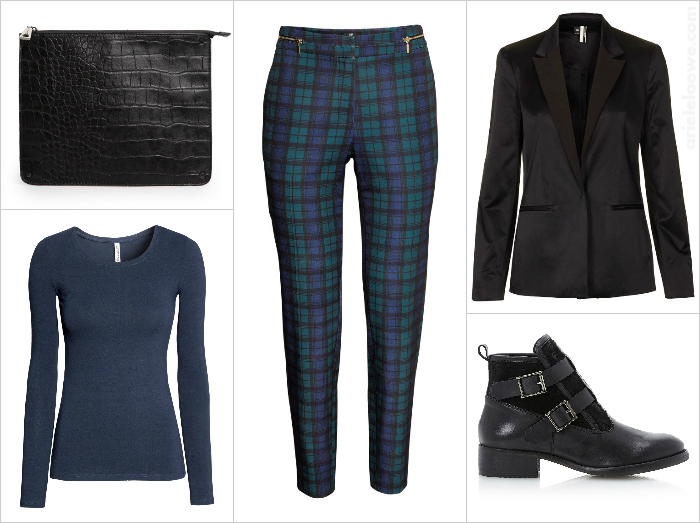 Style For Less Lux Blazer & Checked Trouser