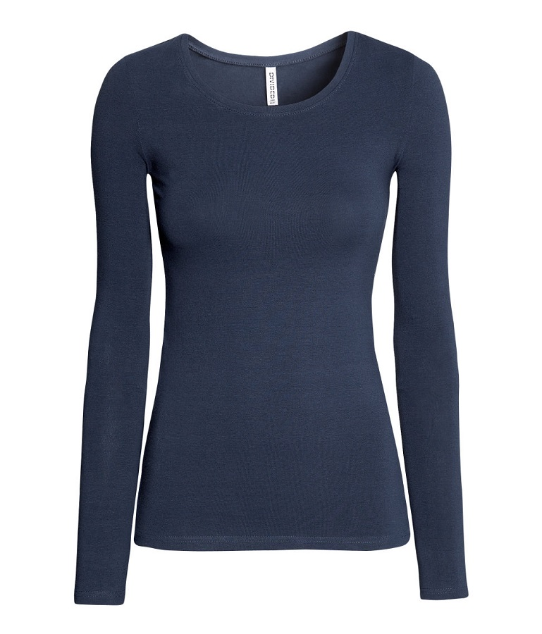 H&M   blue jersey top