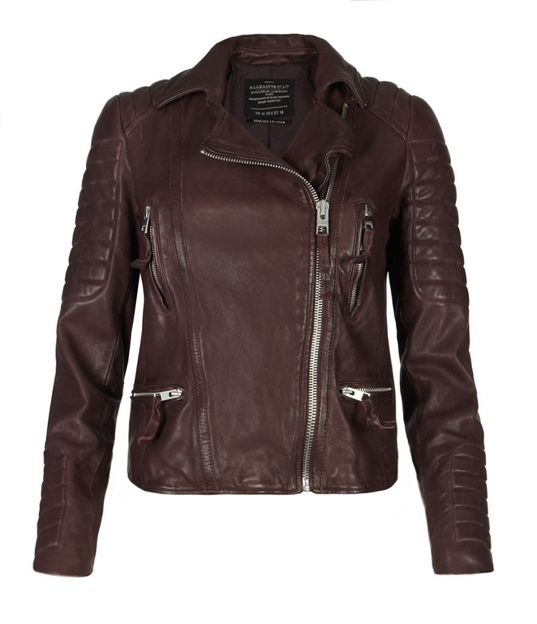 Oxblood leather jacket