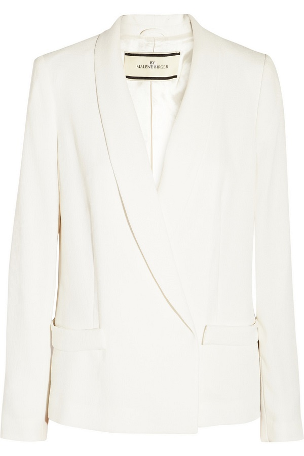 White Niliao Crepe Jacket