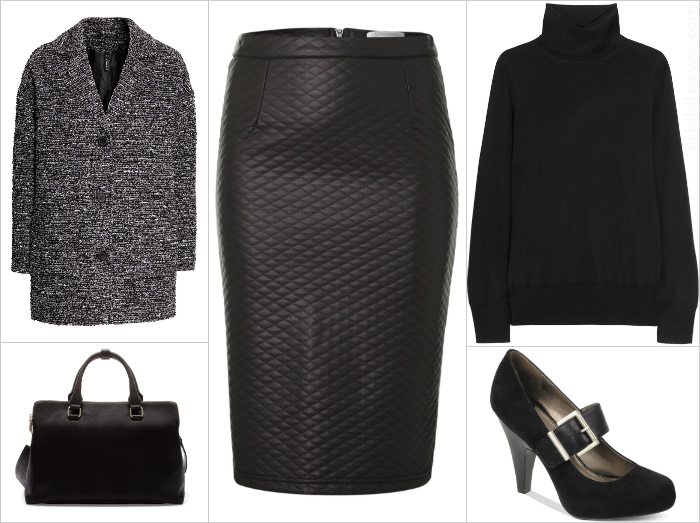 Style For Less Quilted Pencil Skirt