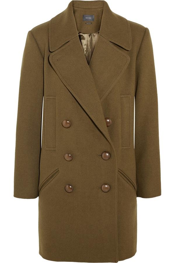Wool Blend Brushed Twill Coat