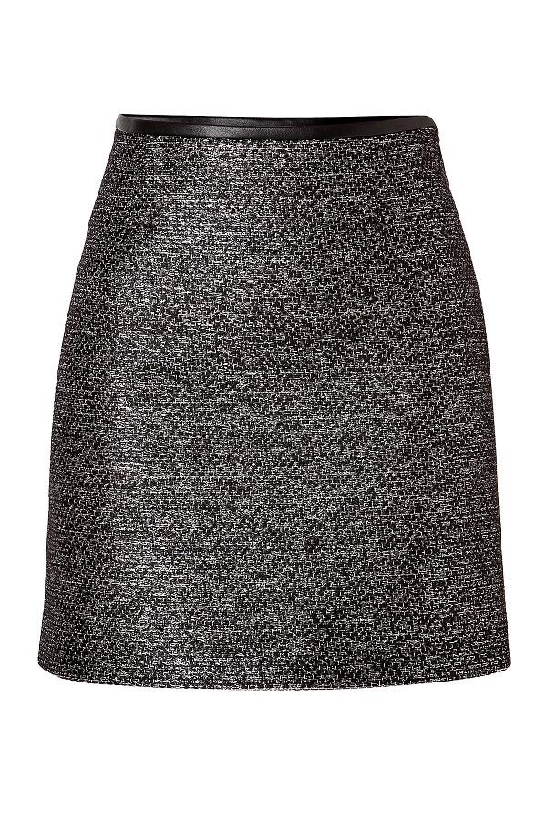 Metallic Knit Skirt