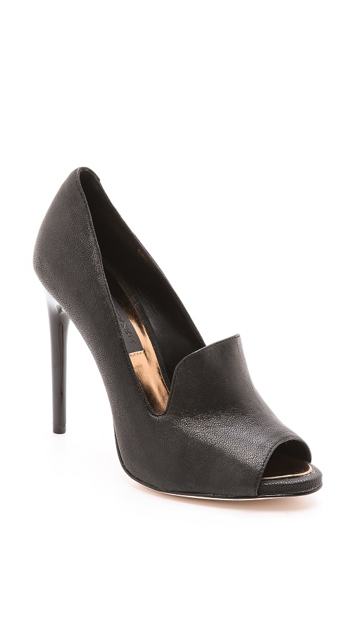 Black Peep Toe Pumps