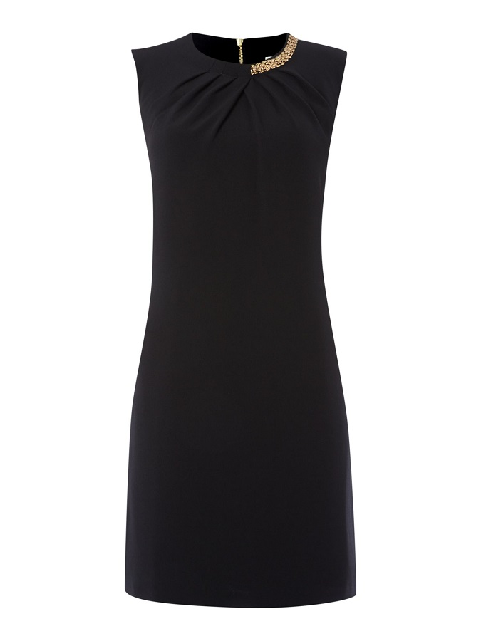 Black Talia Necklace Dress