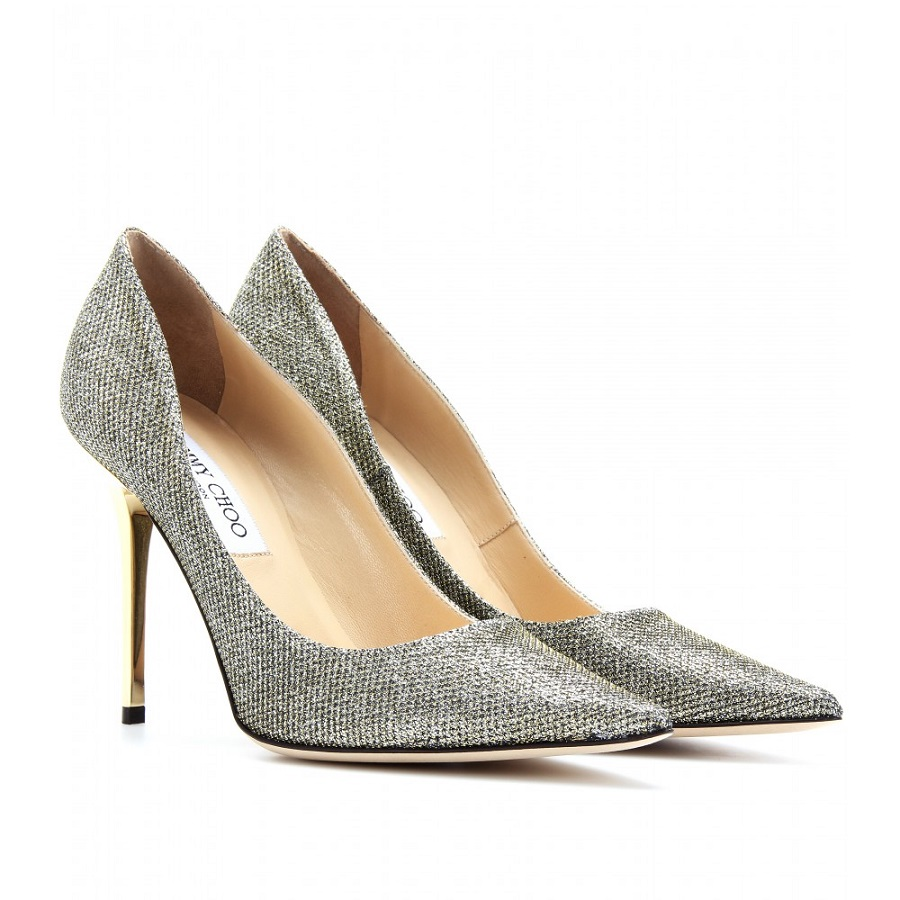 Glitter Leather Pumps