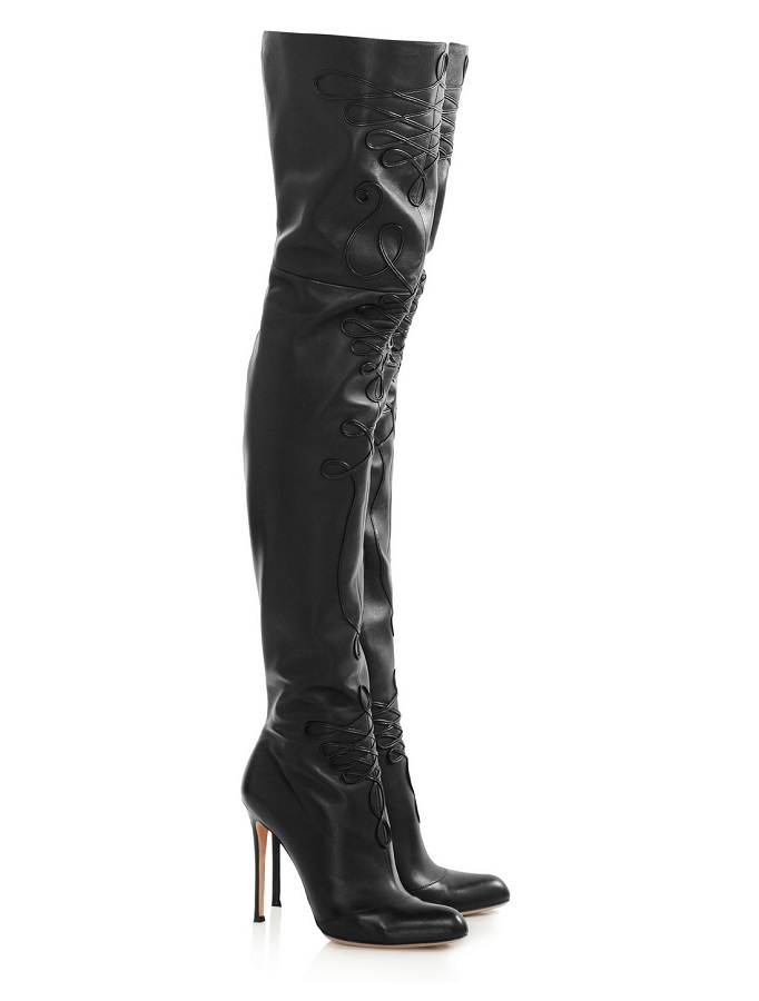 Leather Thigh Boots