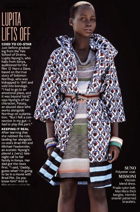 Emma Tempest / Lupita Nyong'o / InStyle / December 2013