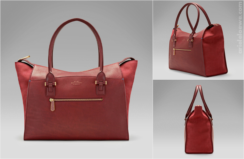Smythson Venetian Red Eliot Large Tote