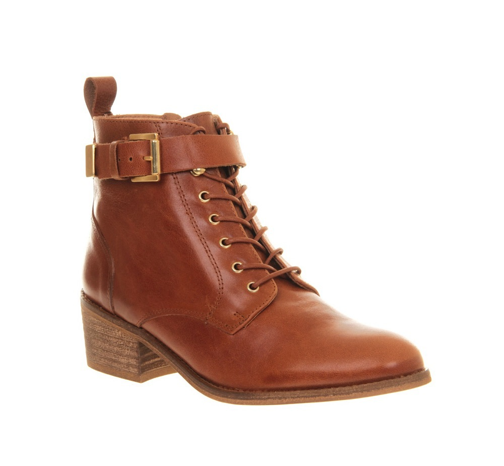 OFFICE milo tan leather ankle boot