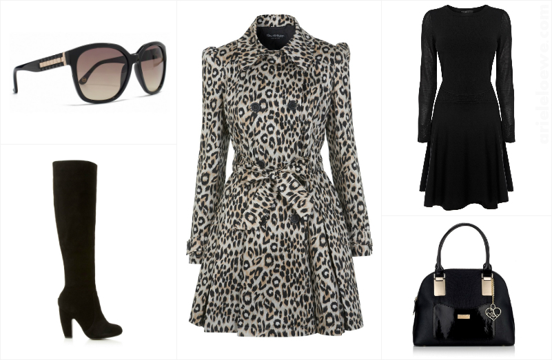 Style For Less Leopard Print Swing Trench Coat