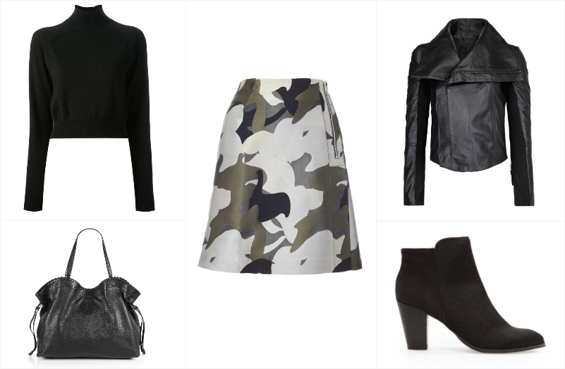 A Way To Wear Whistles Camo Jacquard Skirt