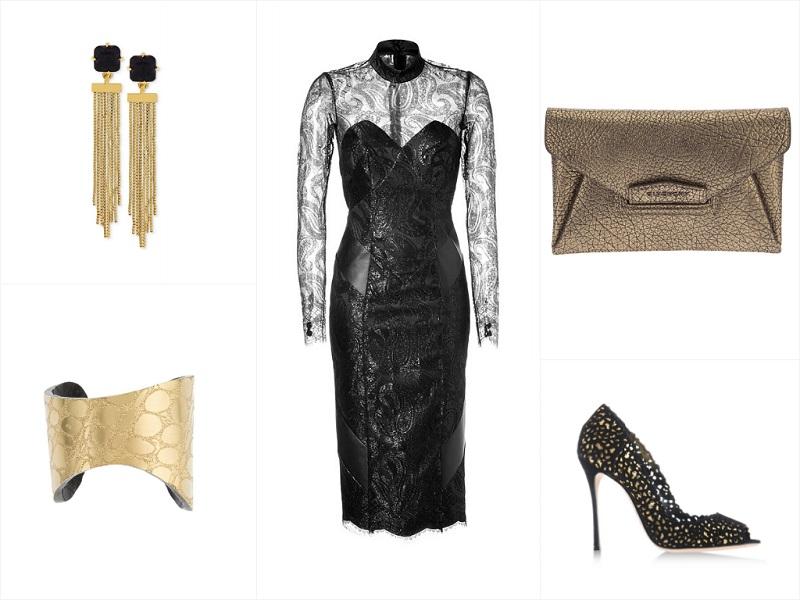 A Way To Wear: L'Wren Scott Lace & Leather Dress