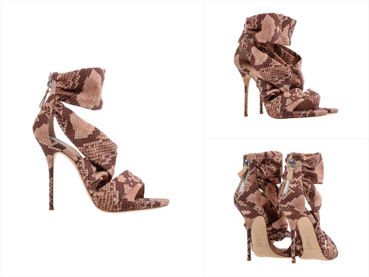 Casadei Snake Print Stiletto Heel Sandal