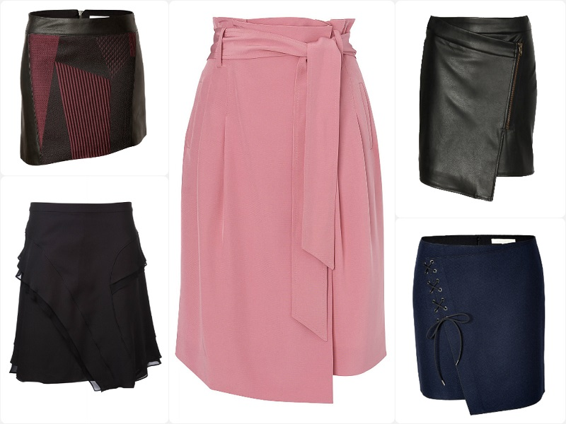 Ariele's Friday 5: Asymmetric Skirts Featuring Jaeger, Proenza Schouler, Jane Norman, Helmut Lang, Vanessa Bruno.