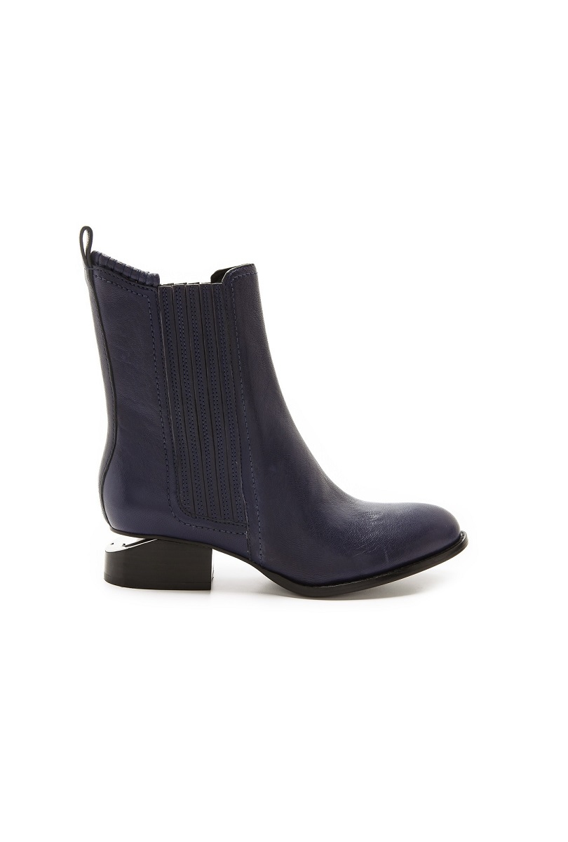 ALEXANDER WANG  Anouck   Chelsea Booties   with Rhodium Plate