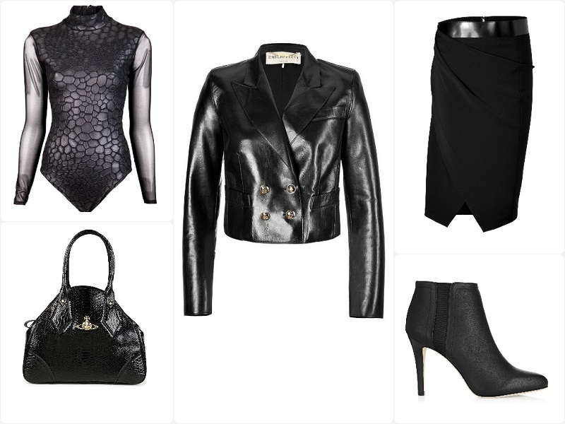A Way To Wear Emilio Pucci Cropped Leather Blazer