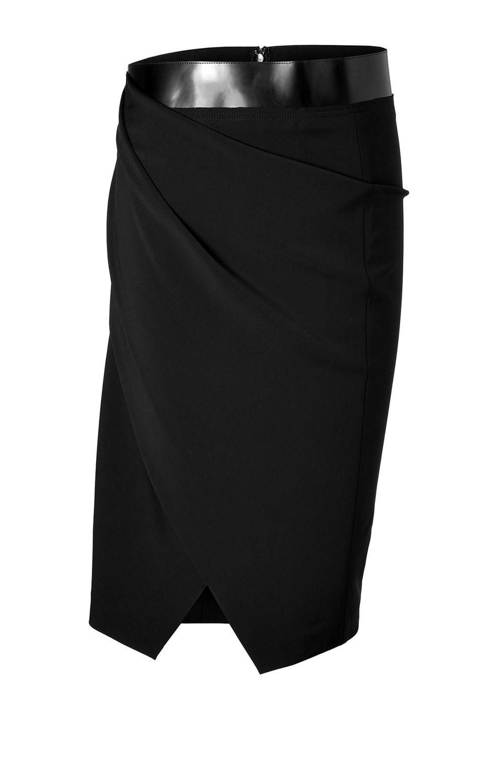 Asymmetric Draped Pencil Skirt