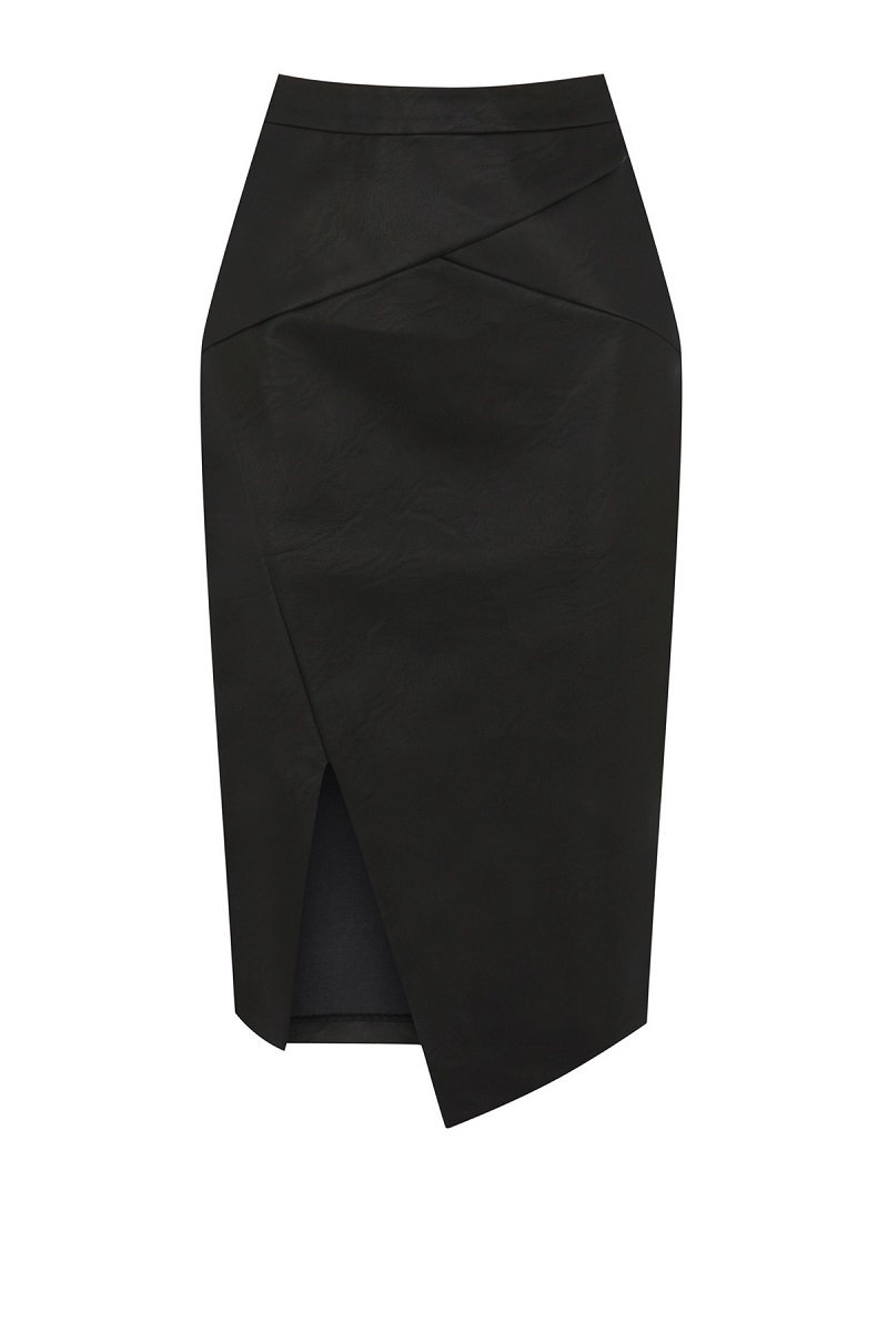 Asymmetric Wrap Pencil Skirt
