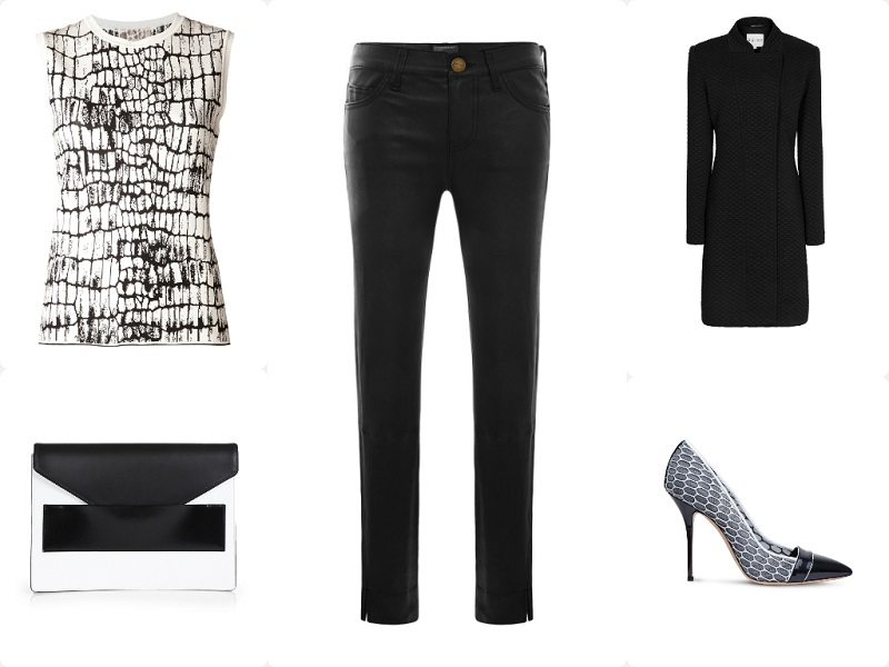 A Way To Wear Current/Elliott Leather Stiletto Jeans