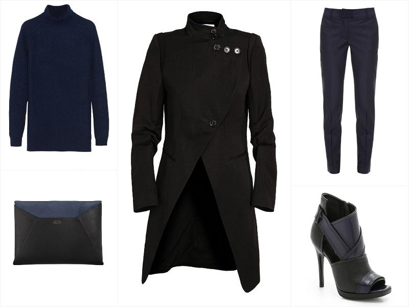A Way To Wear Ann Demeulemeester Asymmetric Coat Featuring Jil Sander, Paul & Joe, Smythson, McQ Alexander McQueen.