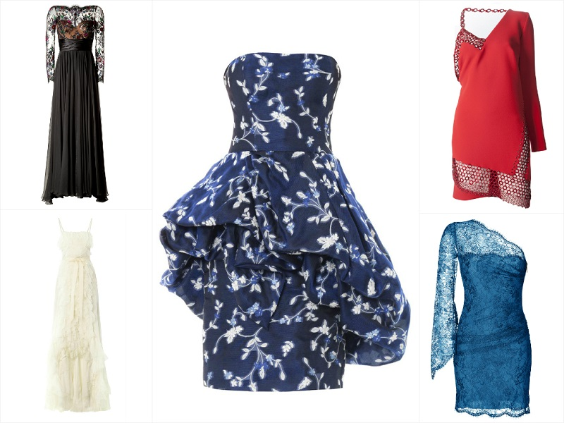 Dresses For Red Carpet Glamour Feauring Oscar de la Renta, Zuhair Murad, Nina Ricci, Anthony Vaccarello, Emilio Pucci.