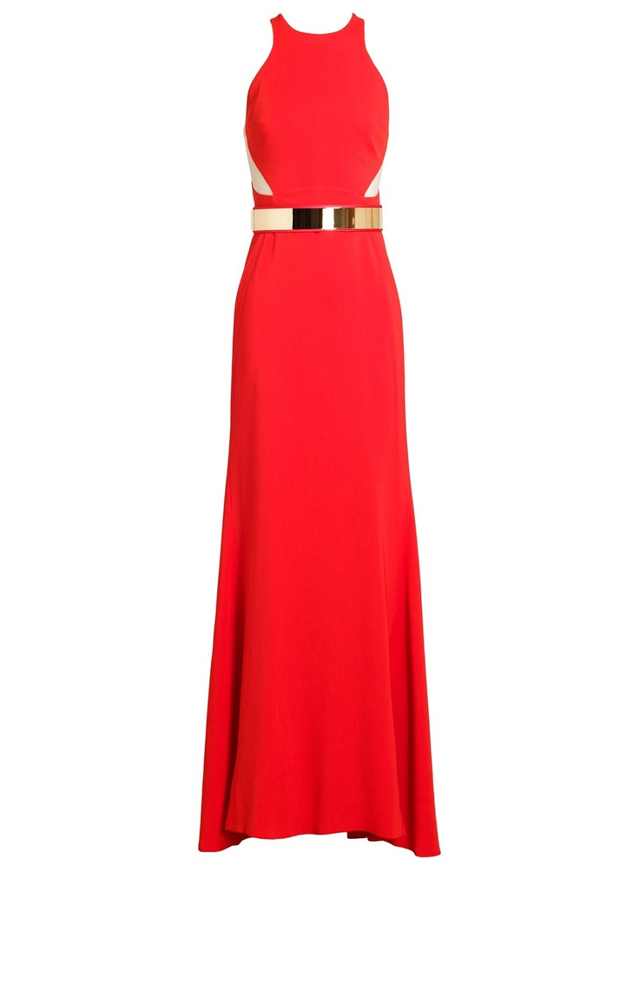 Cut-out Crepe Gown