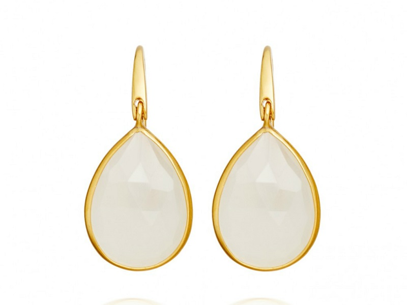 Astley Clarke Large Stilla Moonstone Drop Earrings