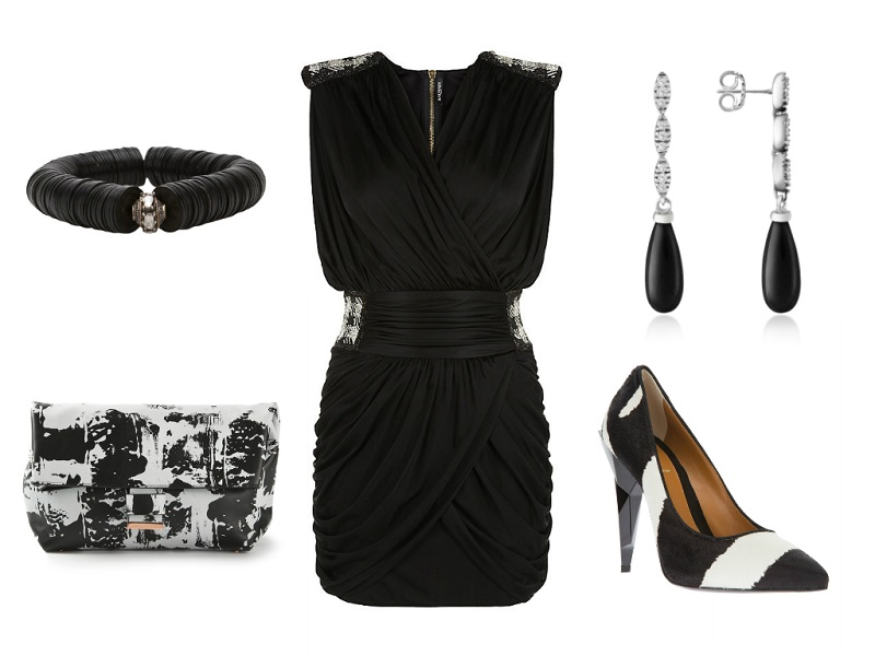 Balmain Dress / Cedric Charlier Clutch / Fendi Pumps / F.L.P. Bracelet / Del Gatto Earrings