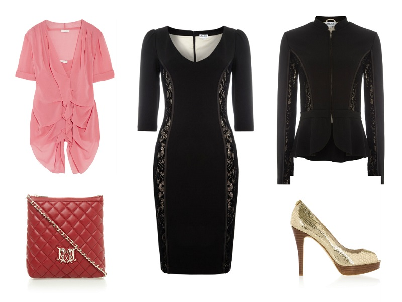 Alice By Temperley Dress / Alice By Temperley Jacket / Donna Karan Top / Love Moschino Bag / Michael Michael Kors Pumps