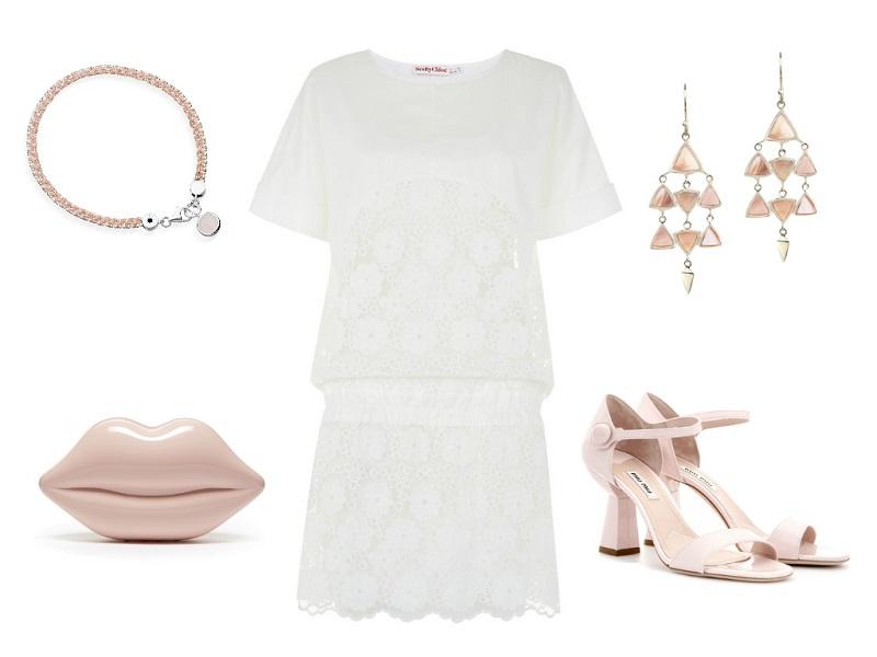 Dress Chloé / Sandals Miu Miu / Clutch Lulu Guinness / Earrings Dinny Hall / Bracelet Astley Clarke
