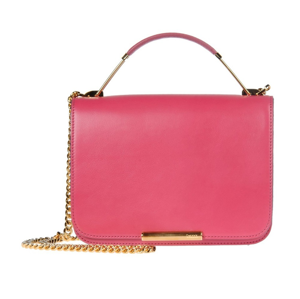 Emilio Pucci Medium Fuchsia Leather Bag