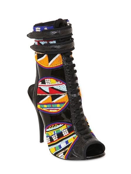Emilio Pucci Masai Patent Leather Boots