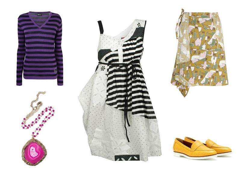 ISOLA MARRAS dress / EA7 jumper / MARNI skirt / ROSANTICA necklace / FENDI shoes