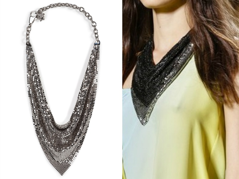 VERSACE metal mesh necklace