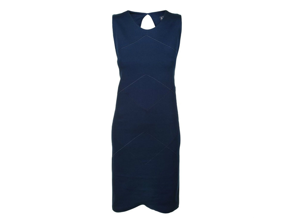 ARMANI JEANS jersey keyhole dress currently 67% off