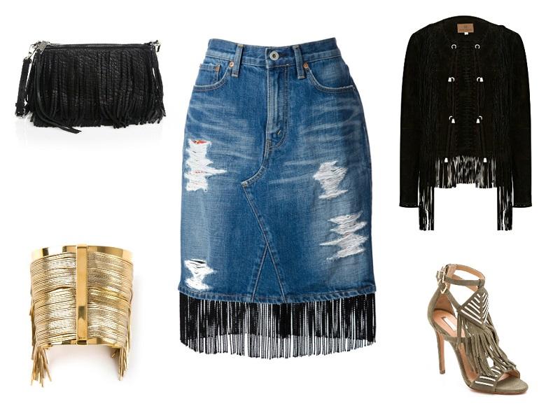 JUNYA WATANABE skirt / REBECCA MINKOFF clutch / CA&LOU cuff / RIVER ISLAND jacket / SCHUTZ sandals