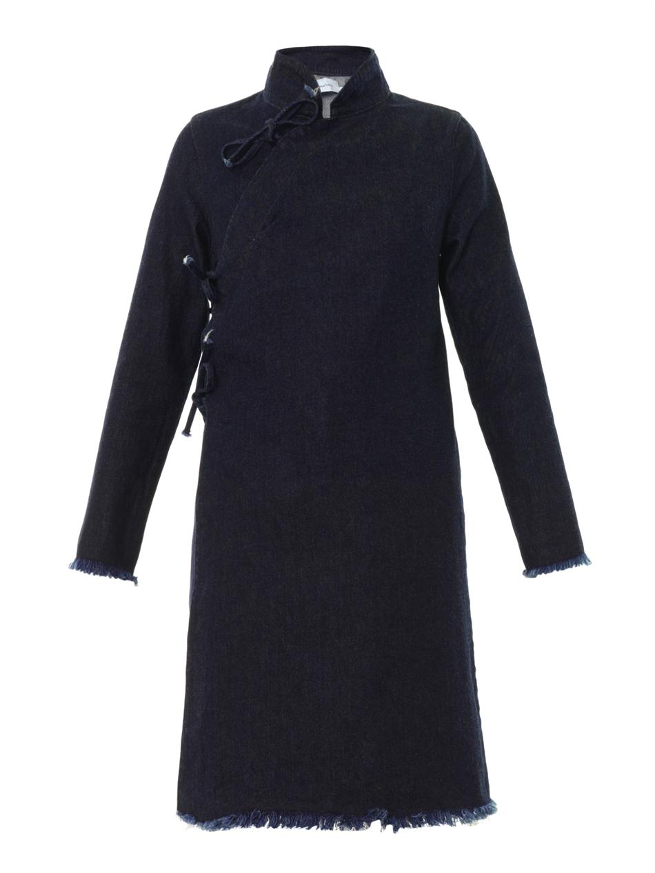 Marques' Almeida    mandarin collar denim dress