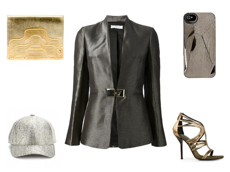 VERSACE blazer / LARA BOHINC wallet / MARC MARC JACOBS iPhone case / ACNE cap / VIONNET sandals