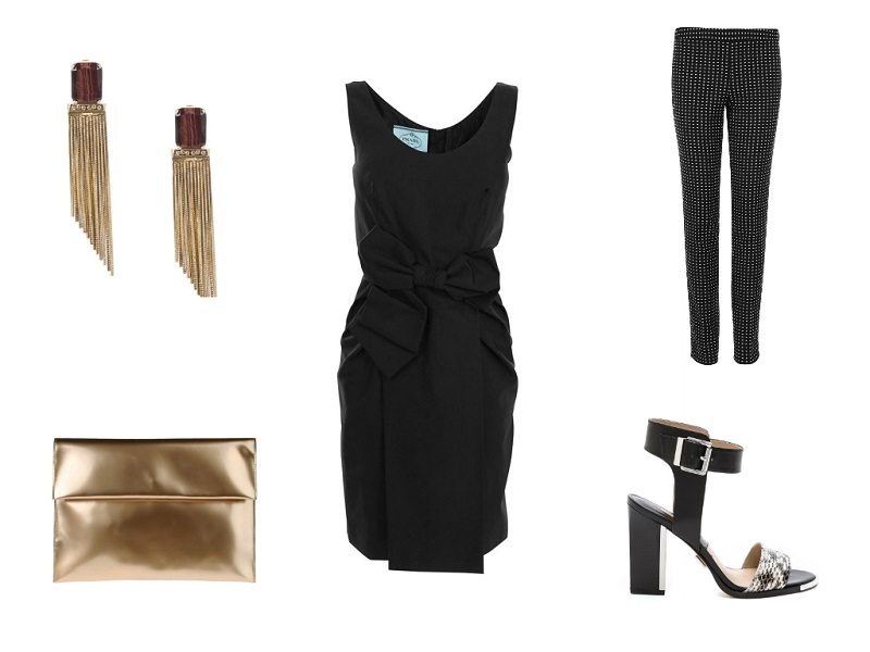 PRADA dress | MOSCHINO CHEAP & CHIC trousers | MARNI clutch | IOSSELLIANI earrings | MICHAEL KORS COLLECTION sandals