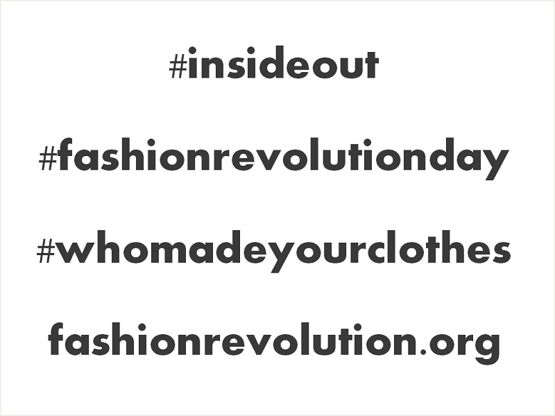 Fashion Revolution Day April 24 2014