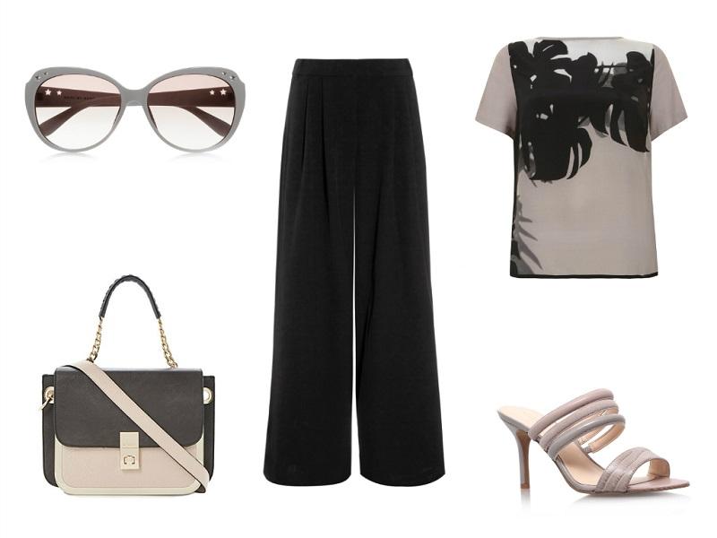 NEXT trouser | MINT VELVET top | MARC MARC JACOBS sunglasses | DUNE bag | NINE WEST sandals