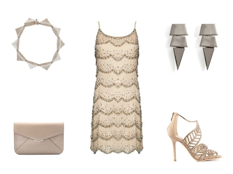 ALICE + OLIVIA dress | EDDIE BORGO bracelet & earrings | FENDI clutch | JIMMY CHOO sandals