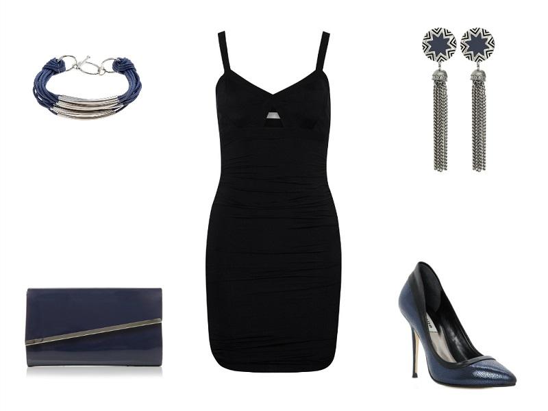 GAT RIMON dress | MODA IN PELLE clutch | JOHN LEWIS bracelet | HOUSE OF HARLOW earrings | DUNE pumps